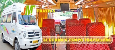 JM Travels pvt ltd chennai tempo traveller hire overview