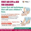 Emergency Child Care First Aid CPR/AED level training in Surrey